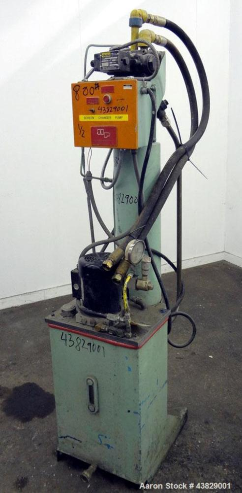 "Used- 6"" Vertical Push Through Style Hydraulic Screen Changer"