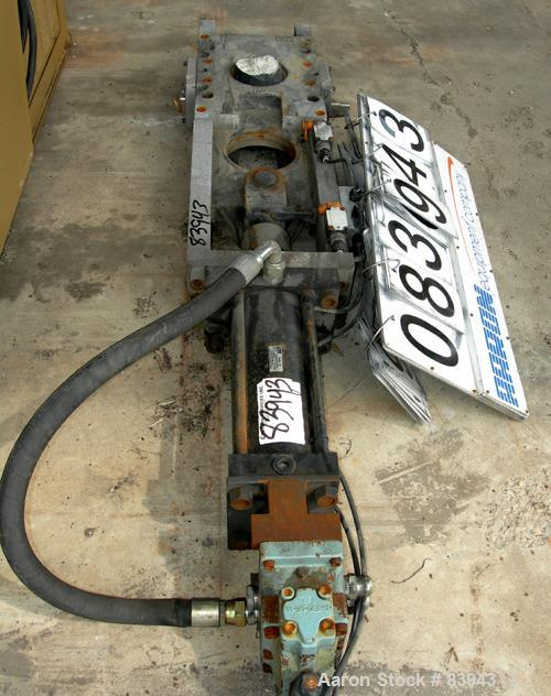 "USED: 6"" Hydraulically operated slide plate. No hydraulic power unit."