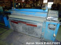"Used- Rosenthal 60"" Sheeter. (1) Unwind, idler roll, dancer roll, tension assembly, pressure roll. Set up for razor slitting..."