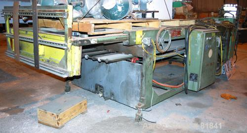 "USED: Power take off table, 54"" wide, Prodex model 684-42. (2) 20"" wide x 123"" long conveyors. (2) 3/4 hp, 1140 rpm, 1725 rp..."