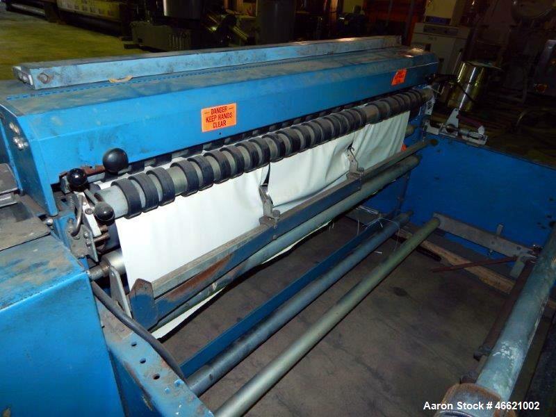 "Used- Rosenthal 60"" Sheeter, Model WAS5-HUBUBZTEA-2. (2) 0.5 hp Motors, (2) 30"" O.D. unwinds, (2) dancer rolls, idler roll, ..."