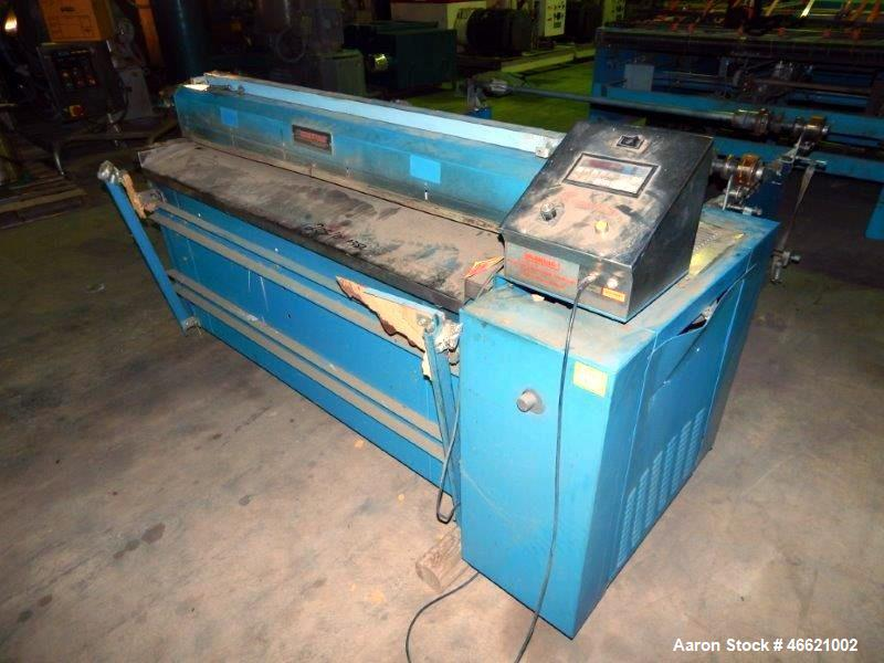 "Used- Rosenthal 60"" Sheeter, Model WAS5-HUBUBZTEA-2. (2) 0.5 hp Motors, (2) 30"" O.D. unwinds, (2) dancer rolls, idler roll, ..."