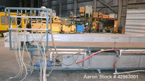 Used- Al-Be Industries Vacuum Sizing Tank, Model C-7-216, 304 Stainless steel. Vacuum section 14'' wide x 24'' long x 7-1/2'...