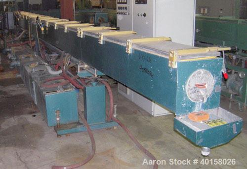 "Used- CDS Vacuum Sizing/Spray Cooling Tank, model CVS12-30SPRH, stainless steel. 12"" X 12"" cross section x 30' long. Include..."