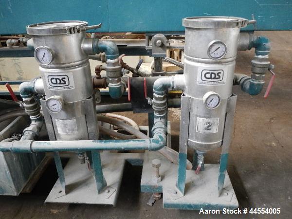 "Used- CDS vacuum tank, model CVSS1420, stainless steel construction, 14"" x 14"" x 20' long tank, with vacuum pump, circulatio..."