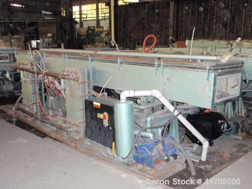 "Used- Conair Metaplast Vacuum Sizing / Water Tank, model MVS3-14-SPLR, stainless steel. 28"" wide x 14"" high x 14' long with ..."