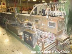 Used-Conair Metaplast Vacuum Sizing Tank, Model  MVS-4-15-8 15', S/N: 180618, 304 stainless steel.  Includes holding tank, h...