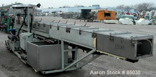 Used- Stainless Steel Metaplast Vacuum Sizing Tank, Model MVSP14.3.7.5