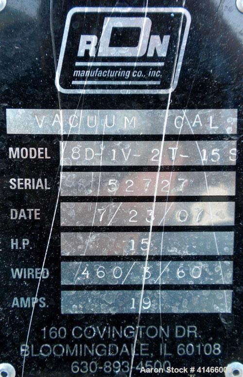 Used- Stainless Steel RDN Vacuum Calibration Tank, Model 8D-1V-2T-15S