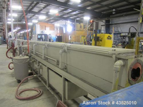 """Used- CDS Spray Cooling Tank, Model CST12-25, Stainless Steel Construction. 12"""" x 12"""" Cross section, 25' long, 8"""" diameter o..."""