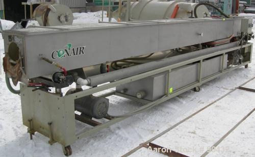 "USED: Conair spray cooling tank, model MCB21-8, 304 stainless steel. Approximately (3) sections, 16"" wide x 16"" deep x 21' l..."