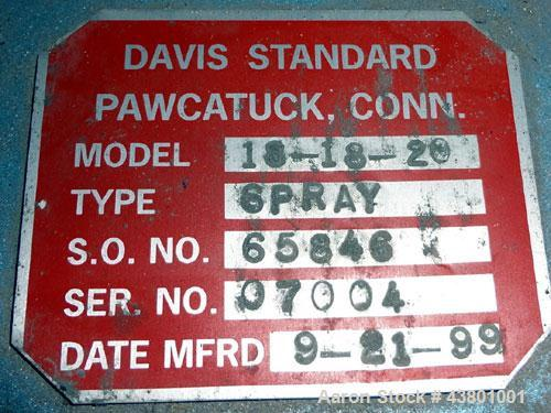 "Unused- Davis Standard Spray Tunnel, Model 18-18-20, 304 Stainless Steel. Approximately 18-3/4"" wide x 18"" deep x 252"" long...."