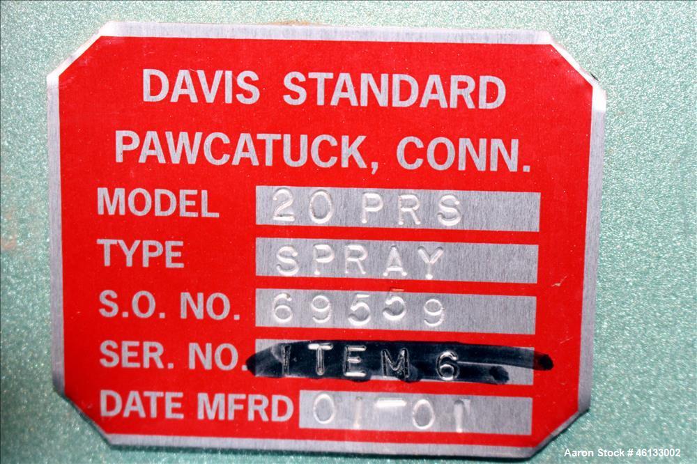 Used- Davis Standard Water Cooling Bath, Model 20PRS