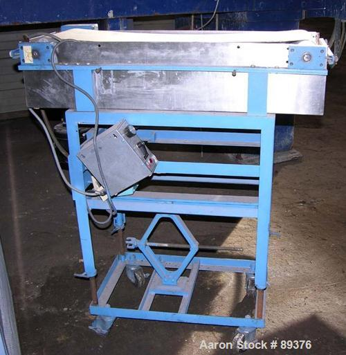 "Used- Haake Strand Conveyor & Cooling Tank. (1) 10"" wide x 30"" long belt conveyor driven by a 1/8 hp, 115 volt motor. (1) 11..."
