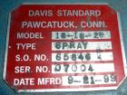 Unused- Davis Standard Spray Tunnel, Model 18-18-20, 304 Stainless Steel. Approximately 18-3/4