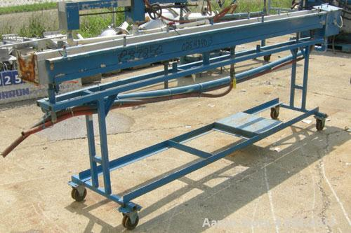 "Used- Waterbath, 304 Stainless Steel.  6"" wide x 120"" long x 4 3/4"" deep.  Mounted on a carbon steel frame with wheels."
