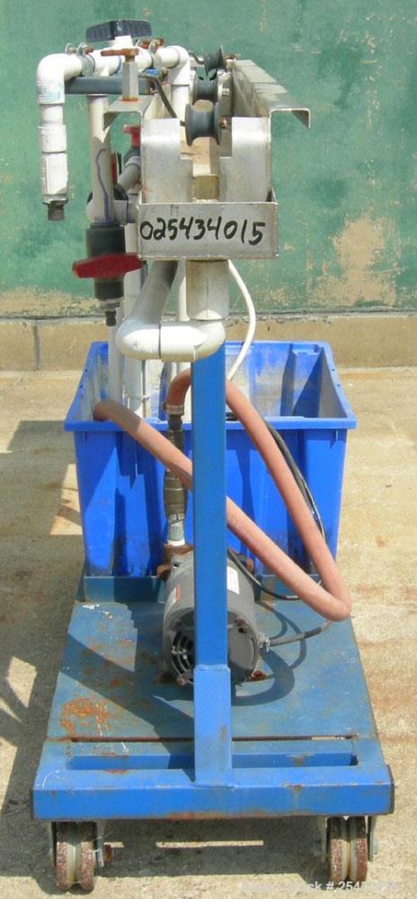 "Used- Waterbath, 304 Stainless Steel. 4 3/4"" wide x 72"" long x 5"" deep. Includes a pump, driven by a 3/4 hp, 1/60/115/230 vo..."