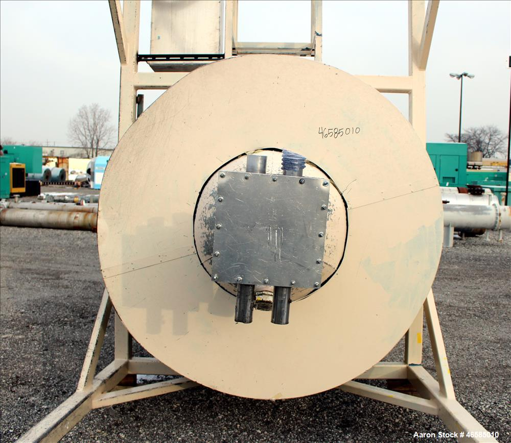"""Used- Drying Hopper, Approximately 8,000 Lbs. Capacity. Approximate 72"""" diameter x 120"""" straight side x 26"""" long cone. 30"""" x..."""