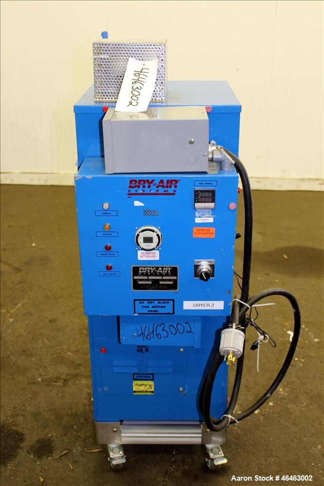 "Used- Bry-Air Systems RD Series Resin Desiccant Dryer, Model RD-50. Process CFM 30 at 10"" ESP, drying capacity 35 to 60 poun..."