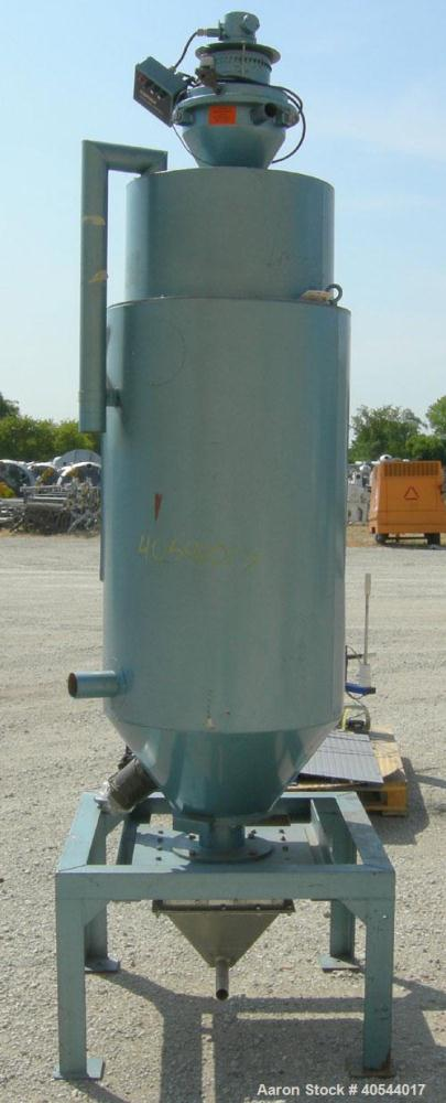 """Used-Conair insulated drying hopper, carbon steel, model 1805390300. 26"""" diameter x 46"""" straight side. Top mounted loader, s..."""