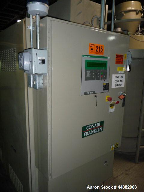 Used- Conair Model CD1000 Desiccant Dryer, Serial #19921.  Includes Conair hopper model CH44-58/SP, serial #73872, hopper wi...