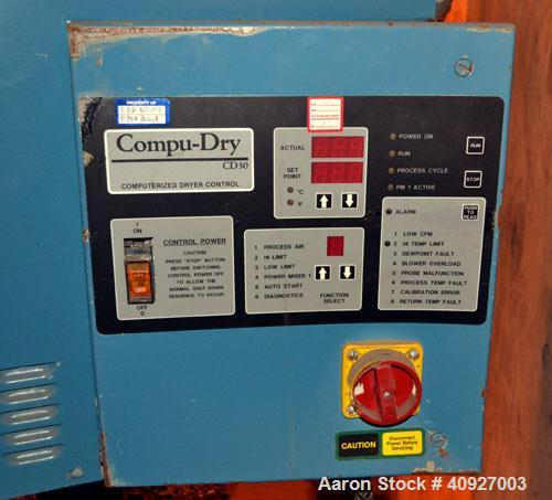 Used- Conair Drying System Consisting Of: (1) Conair Dehumidifying Dryer, Model CD30, 30 CFM, 240 Volt. (1) Desiccant cartri...