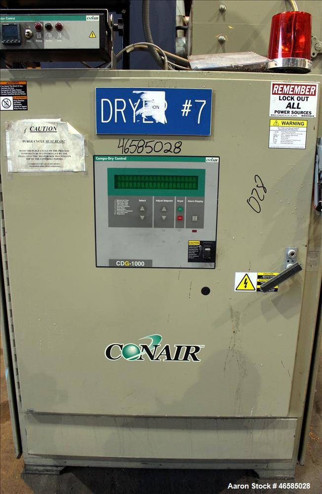 Used- Conair Carousel Dehumidifying Dryer, Gas Heated, Model CDG1000, Carbon Ste