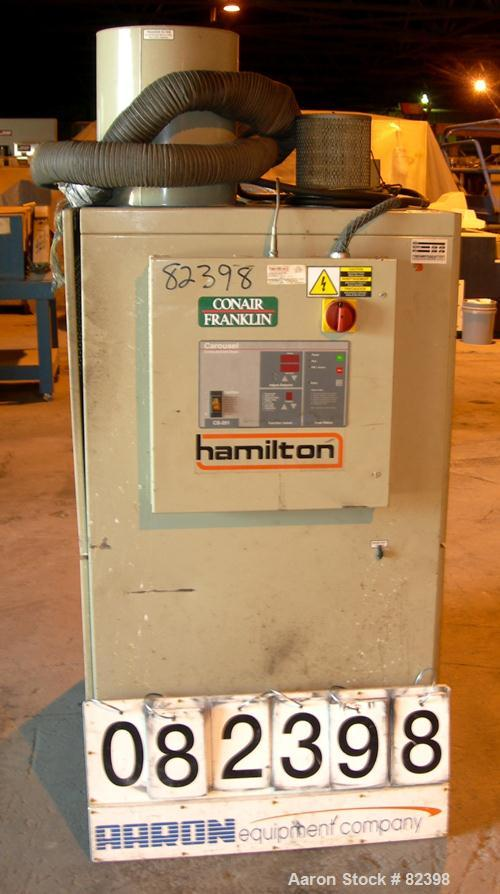 USED: Conair carousel dehumidifying dryer, model CS201. Approximately 150 cfm. 4 cartridges, 3/60/575 volt.