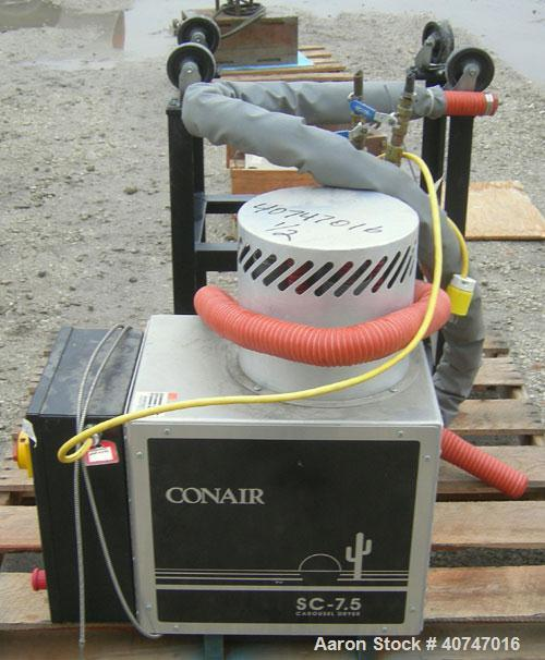 Used- ConairCarousel DehumidifyingDryer,modelSC7.5,carbon steel, 7.5 cfm. Drying temperature range 150-375 deg F.3/60/480 vo...