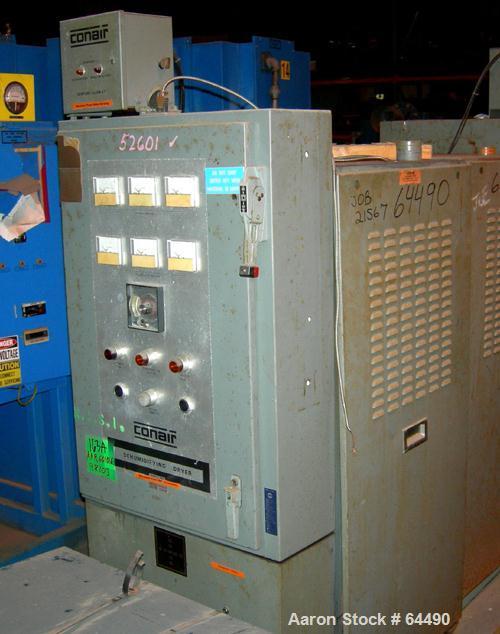 USED: Conair dehumidifying dryer, model D-100. 3 desiccant cartridges, 8.3 kilowatts, approximately 300 deg F in and 125 deg...