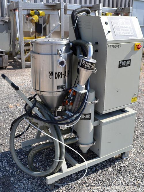 Used- Dri-Air Portable Dryer, Model APD-1, Carbon Steel, Approximate 25 cfm, process rate 7.5 pounds an hour. Includes a sta...