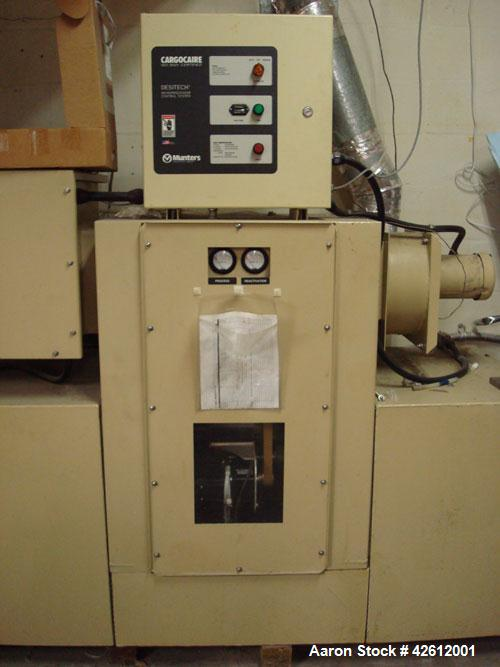 Used-Munters HCD-1125-EA Desiccant Dehumidifier Dryer. Flow rate of 600 to 2250 scfm. Nominal moisture removal is 30 lbs/hou...