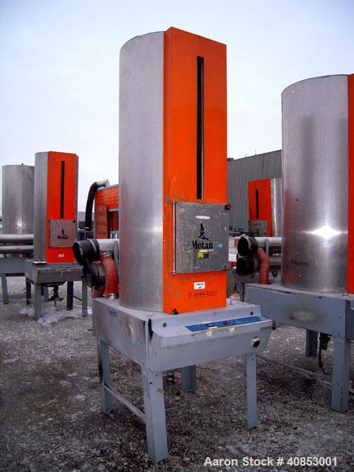 Used- Motan Drying System consisting of: (1) Motan central system dehumidifying dryer, model MXS1200, approximately 1200 cfm...