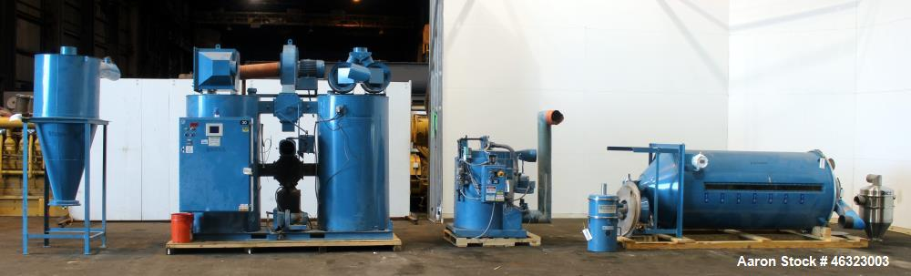 Used- Novatec Dessicant Drying System, Carbon Steel. Consisting of (1) Novatec dual tower desiccant bed dryer, model CDM-100...