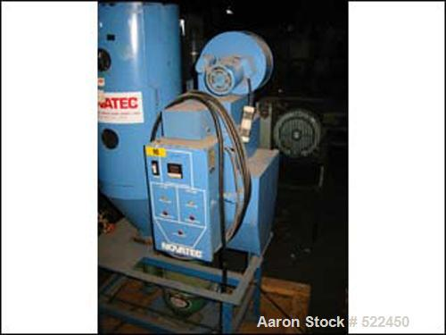 USED: Novatec hopper dryer, model MDM-25. Micro dryer series, rated 25 lb/hour. With 100 lb hopper, dual tower design. With ...