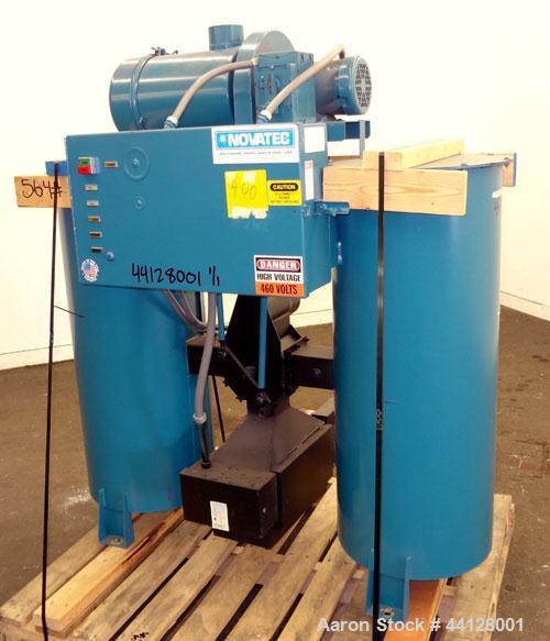 Used- Novatec POD Series Bulk Storage Silo Dryer, Model POD-150B, Carbon Steel. Airflow 150 cfm, dehumidifier outlet dewpoin...