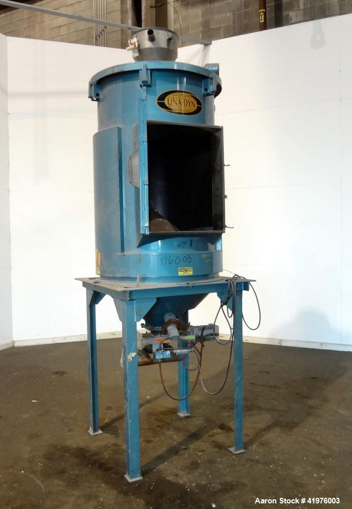 Used- Carbon Steel Una-Dyn 1100 Pound Hopper
