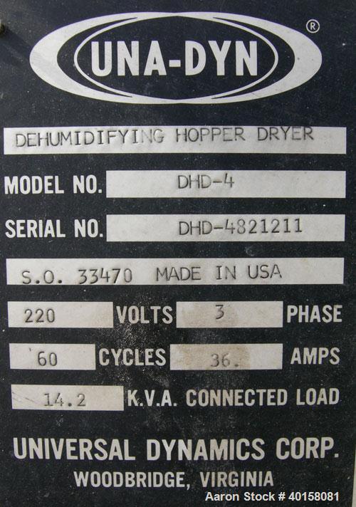 Used- Unadyn Dehumidifier Dryer, model DHD-4
