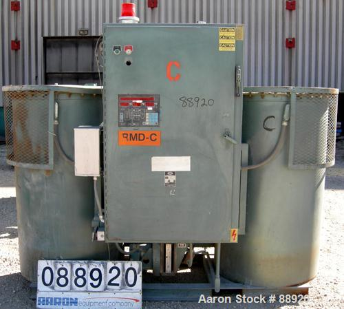 USED: Unadyn dehumidifier dryer, model DHD-60. Dual desiccant beds. 1500 process cfm. 3/60/460 volt. Includes a control pane...