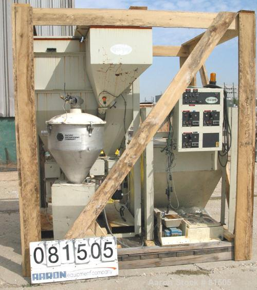USED: Unadyn Drying System consisting of: (1) Unadyn dehumidifying dryer, model DHD-6. Dual canister. Rated 160-185 cfm. App...