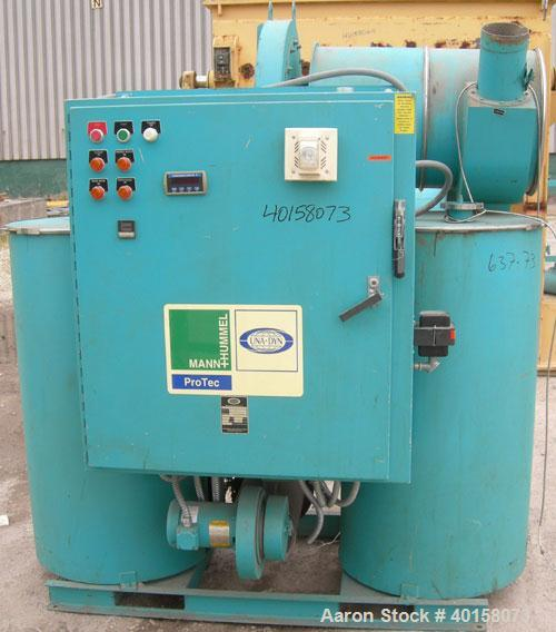 Used- Unadyn Dehumidifier Dryer, model DHD-11. Dual desiccant beds, 350 process cfm, 3/60/230 volt, 106 amp, 42 kva. Include...