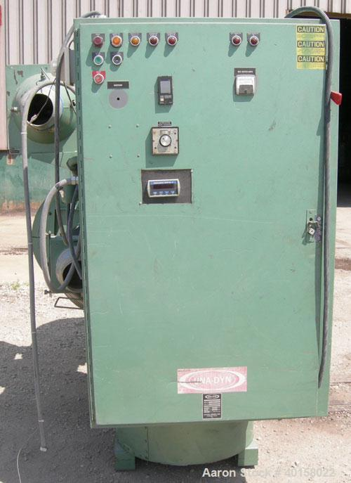 """Used- Unidyn model DHD25 dessicant dryer. 460 volt AC input, serial #DHD2585137. Includes insulated hopper, 54"""" O.D. X 100"""" ..."""
