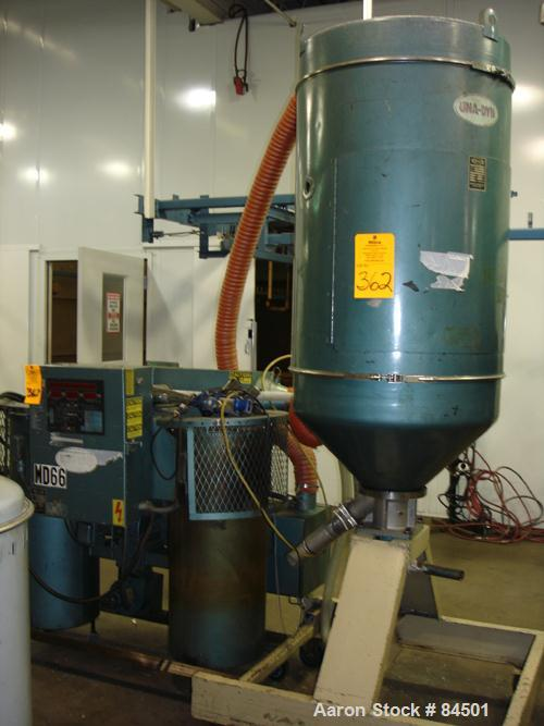 Used- Una-Dyn Desiccant Dryer, Model DHD4. Process cfm 125. Temperature range 170-250 deg F, 3/60. Includes a 600 pound drye...