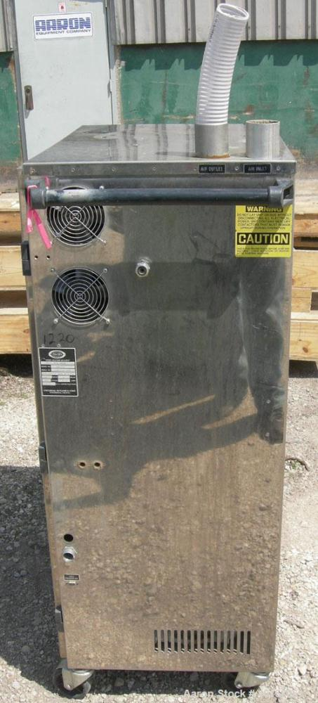 Used- Unadyn Automatic Mini Dryer, model UDC-150. Solid absorption type, dual desiccant beds. Approximately 180 to 250 deg F...