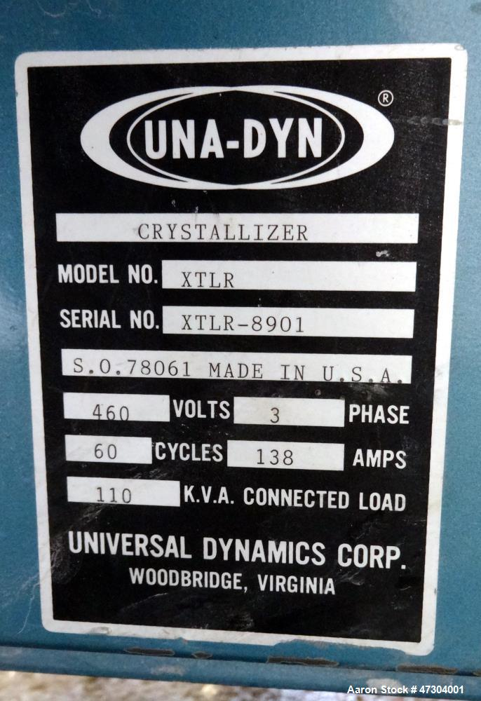 Used- Una-Dyn XTLR Series Closed Loop Turbo Crystallizer, Model XTLR-600-1500