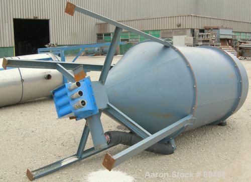 "Used- AEC Whitlock drying hopper, model DH-75F-Q, carbon steel. Approximate 42"" diameter x 80"" straight side. Removable top,..."