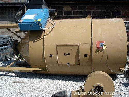 Used- Novatech Hopper Dryer, Model PHH1500. With 4000# insulated hopper, electrically heated with blower.