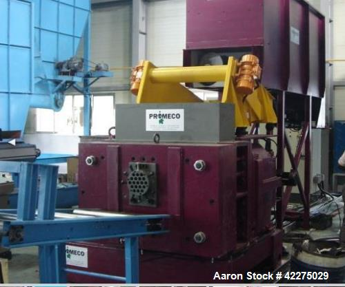 Used- Promeco Twin Screw Agglomerator for PE PP PS ABS PVC, etc. Ongoing output construction year 2009. Can be used for a va...
