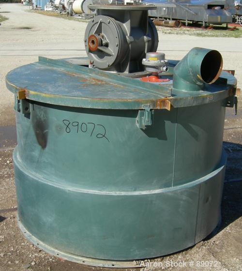 "USED: Unadyn 5000# drying hopper, model 2P11, carbon steel. 2 bolt together sections, (1) top section 60"" diameter x 42"" str..."
