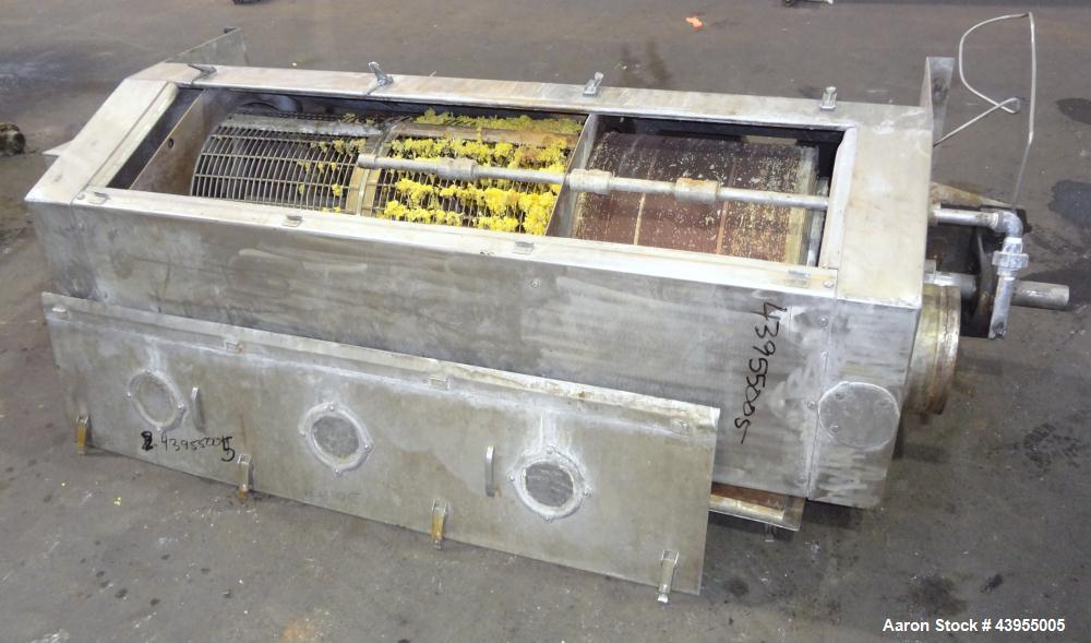 Used- Stainless Steel Carter Day Horizontal Rotary Wash & Dewatering Screener, M
